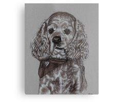 Dog portrait in sepia Metal Print