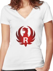 Red Ruger Firearms Women's Fitted V-Neck T-Shirt