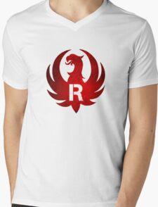 Red Ruger Firearms Mens V-Neck T-Shirt