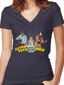 AstrophysiX-Men v2 Women's Fitted V-Neck T-Shirt