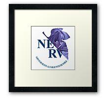 Neon Genesis Evangelion Rei NERV Framed Print