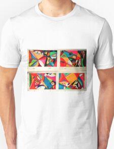 Fruit box Art - geometric abstract double diptych Unisex T-Shirt