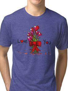 Love You Flowers Tri-blend T-Shirt