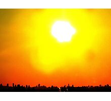 Urban sunset, New York City  Photographic Print