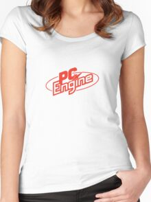 NEC PC Engine - Red Logo Women's Fitted Scoop T-Shirt