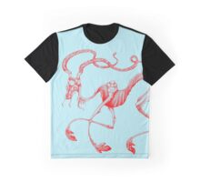 Celestial Elk Blue & Red Graphic T-Shirt