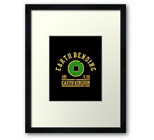 earth bending  Framed Print