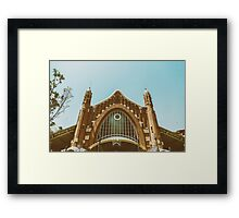 Mercado Colon In Valencia Framed Print