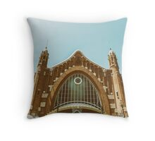 Mercado Colon In Valencia Throw Pillow