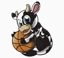 Cow B-ball One Piece - Short Sleeve