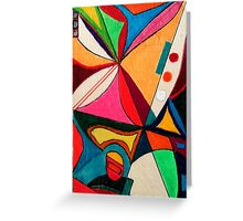Fruit box Art - geometric abstract no 1 of 4 Greeting Card