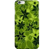 Green Vintage Trendy Floral Pattern iPhone Case/Skin