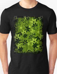 Green Vintage Trendy Floral Pattern Unisex T-Shirt