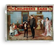 Performing Arts Posters For her childrens sake by Theo Kremer the companion play to The fatal wedding 0277 Canvas Print
