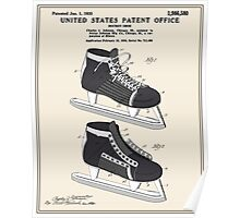 Hockey Skate Patent - Colour Poster