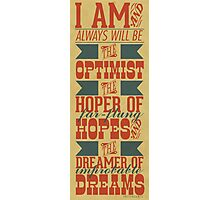 Optimist Photographic Print