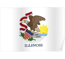 Illinois State Flag  Poster