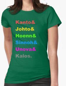 Pokemon Regions Womens Fitted T-Shirt