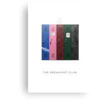 The Breakfast Club Minimalist Art Canvas Print