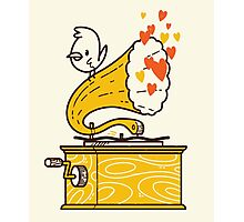 Phonograph and the Bird Photographic Print