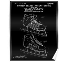 Hockey Skate Patent - Black Poster