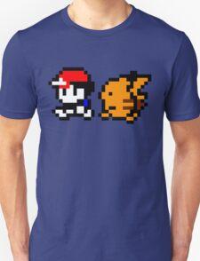 Shiny 8-bit Ash and Pikachu Unisex T-Shirt