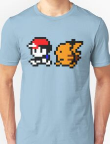 Shiny 8-bit Ash and Pikachu Unisex T-Shirt