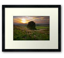 Dunstable Downs Sunset Framed Print