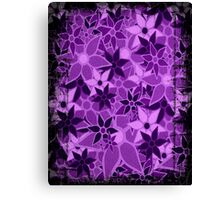 Purple Vintage Trendy Floral Pattern Canvas Print