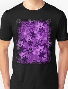 Purple Vintage Trendy Floral Pattern Unisex T-Shirt