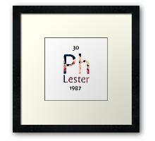 Phil Lester - Chemical Symbol Framed Print
