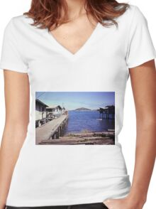 Port Moresby  Women's Fitted V-Neck T-Shirt