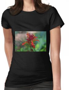 Shrimp Plant II- horizontal Womens Fitted T-Shirt