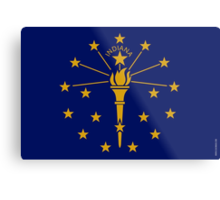 Indiana State Flag  Metal Print