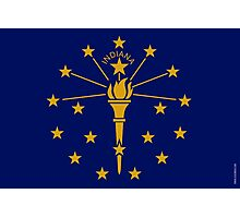 Indiana State Flag  Photographic Print