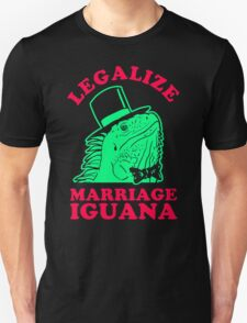 Legalize Marriage Iguana Unisex T-Shirt