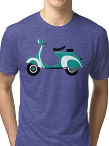 Green vespa Tri-blend T-Shirt