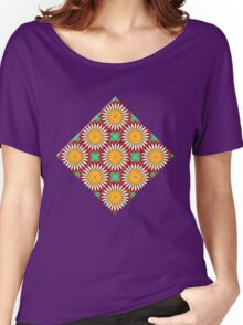 Porcelain Daisies Women's Relaxed Fit T-Shirt