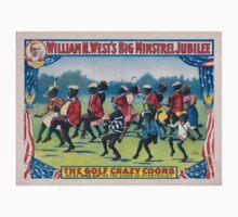Performing Arts Posters William H Wests Big Minstrel Jubilee 1779 Kids Tee