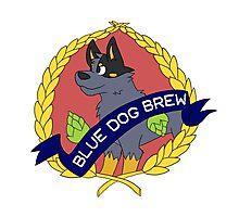 Blue Dog Brew Photographic Print