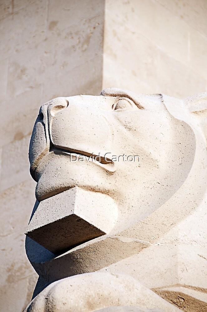 Lion statue, Royal naval memorial, Plymouth, Devon, UK by buttonpresser