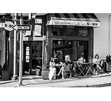 Cafe Scene Photographic Print