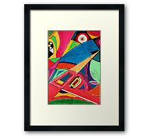 Fruit box Art - geometric abstract no 3 of 4 Framed Print