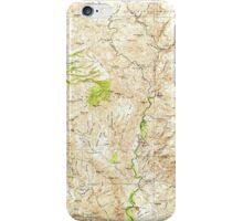 USGS TOPO Map Arizona AZ Turret Peak 315416 1933 125000 iPhone Case/Skin