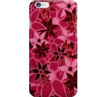 Red Vintage Trendy Floral Pattern iPhone Case/Skin