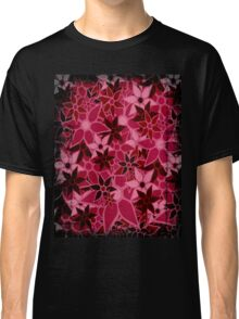Red Vintage Trendy Floral Pattern Classic T-Shirt