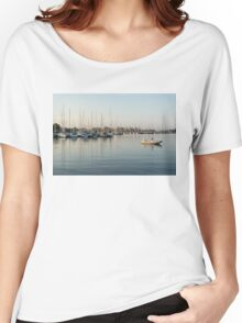 Reflecting on Yachting - Pastel Morning at the Marina Women's Relaxed Fit T-Shirt