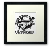 The best road is offroad Framed Print