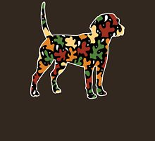 Beagle Autumn Leaves Pattern Womens Fitted T-Shirt