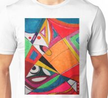 Fruit box Art - geometric abstract no 4 of 4 Unisex T-Shirt